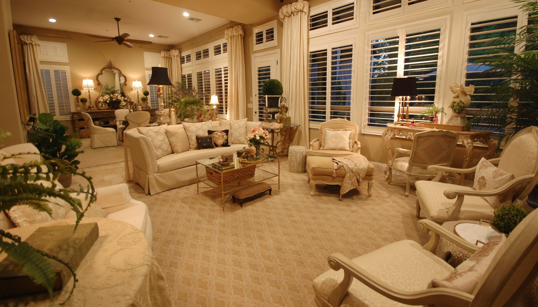 living room to dining